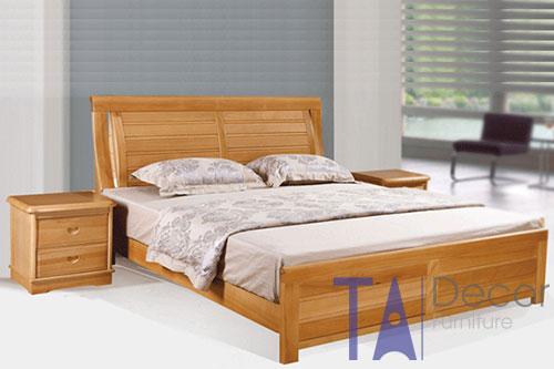 Giường gỗ đôi TA 002